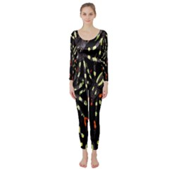 Spiders Colorful Long Sleeve Catsuit