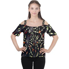 Spiders Colorful Women s Cutout Shoulder Tee