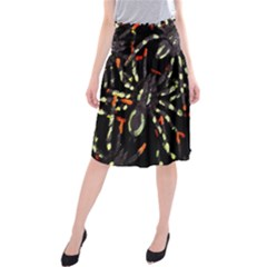 Spiders Colorful Midi Beach Skirt