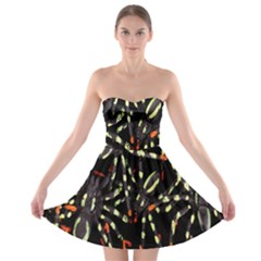 Spiders Colorful Strapless Bra Top Dress
