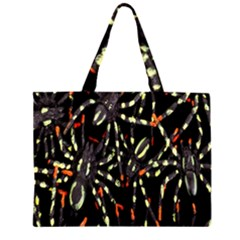 Spiders Colorful Large Tote Bag