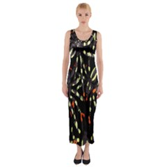 Spiders Colorful Fitted Maxi Dress