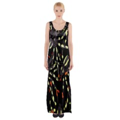 Spiders Colorful Maxi Thigh Split Dress