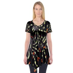 Spiders Colorful Short Sleeve Tunic