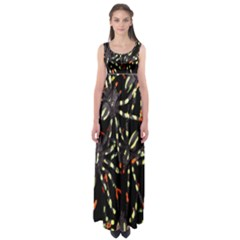 Spiders Colorful Empire Waist Maxi Dress