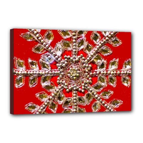 Snowflake Jeweled Canvas 18  X 12