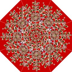 Snowflake Jeweled Hook Handle Umbrellas (Large)