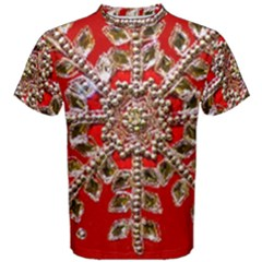 Snowflake Jeweled Men s Cotton Tee
