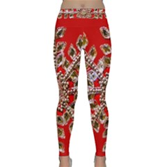 Snowflake Jeweled Classic Yoga Leggings