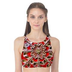 Snowflake Jeweled Tank Bikini Top