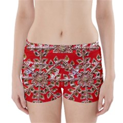 Snowflake Jeweled Boyleg Bikini Wrap Bottoms
