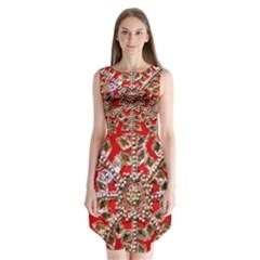 Snowflake Jeweled Sleeveless Chiffon Dress