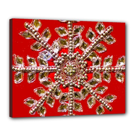 Snowflake Jeweled Canvas 20  X 16