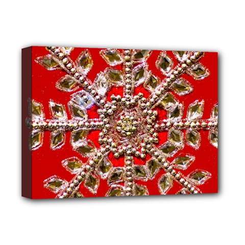 Snowflake Jeweled Deluxe Canvas 16  x 12