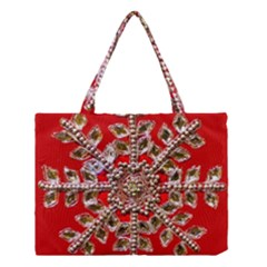 Snowflake Jeweled Medium Tote Bag