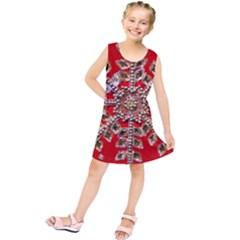 Snowflake Jeweled Kids  Tunic Dress