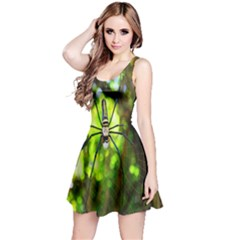 Spider Spiders Web Spider Web Reversible Sleeveless Dress