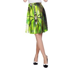 Spider Spiders Web Spider Web A-Line Skirt