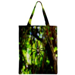 Spider Spiders Web Spider Web Zipper Classic Tote Bag