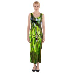 Spider Spiders Web Spider Web Fitted Maxi Dress