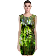 Spider Spiders Web Spider Web Classic Sleeveless Midi Dress
