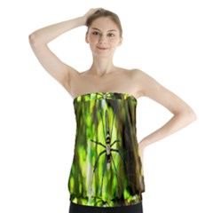Spider Spiders Web Spider Web Strapless Top