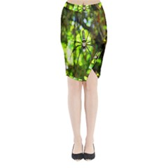 Spider Spiders Web Spider Web Midi Wrap Pencil Skirt