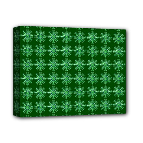 Snowflakes Square Deluxe Canvas 14  x 11