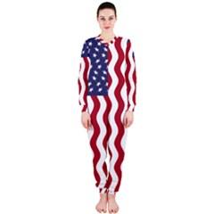 American Flag Onepiece Jumpsuit (ladies)