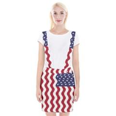 American Flag Suspender Skirt