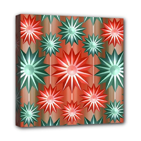 Star Pattern  Mini Canvas 8  x 8