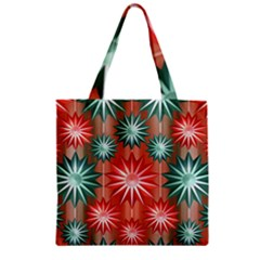 Star Pattern  Zipper Grocery Tote Bag