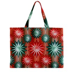Star Pattern  Zipper Mini Tote Bag