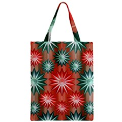 Star Pattern  Zipper Classic Tote Bag