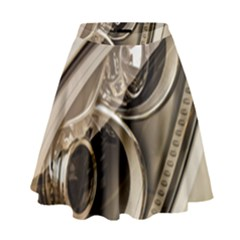 Spotlight Light Auto High Waist Skirt