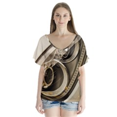 Spotlight Light Auto Flutter Sleeve Top