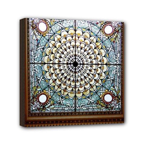 Stained Glass Window Library Of Congress Mini Canvas 6  X 6