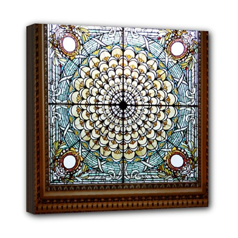 Stained Glass Window Library Of Congress Mini Canvas 8  X 8