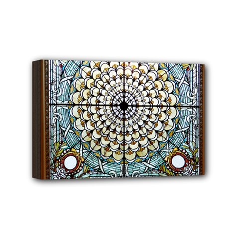 Stained Glass Window Library Of Congress Mini Canvas 6  X 4