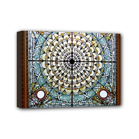 Stained Glass Window Library Of Congress Mini Canvas 7  X 5