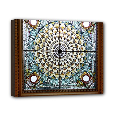 Stained Glass Window Library Of Congress Canvas 10  x 8