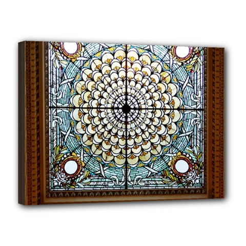 Stained Glass Window Library Of Congress Canvas 16  x 12