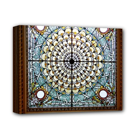 Stained Glass Window Library Of Congress Deluxe Canvas 14  x 11