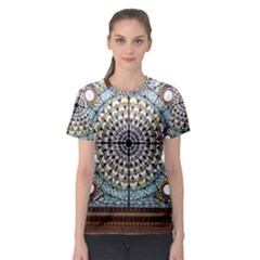 Stained Glass Window Library Of Congress Women s Sport Mesh Tee