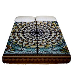 Stained Glass Window Library Of Congress Fitted Sheet (king Size)