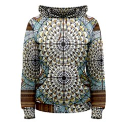 Stained Glass Window Library Of Congress Women s Pullover Hoodie