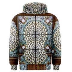 Stained Glass Window Library Of Congress Men s Zipper Hoodie