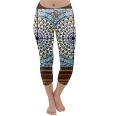Stained Glass Window Library Of Congress Capri Winter Leggings