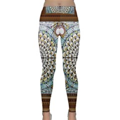 Stained Glass Window Library Of Congress Classic Yoga Leggings