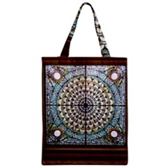 Stained Glass Window Library Of Congress Zipper Classic Tote Bag